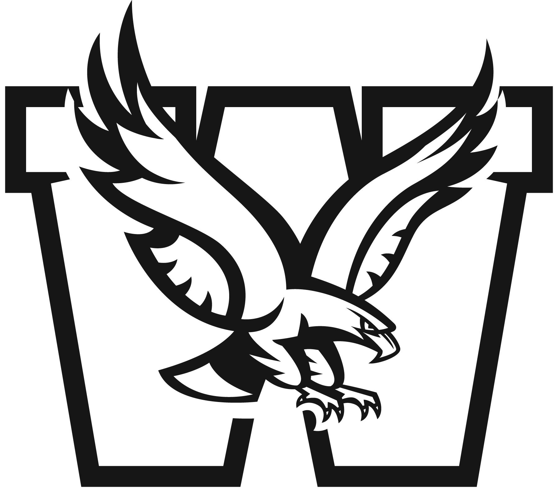 Mission Eagles Logo B&w
