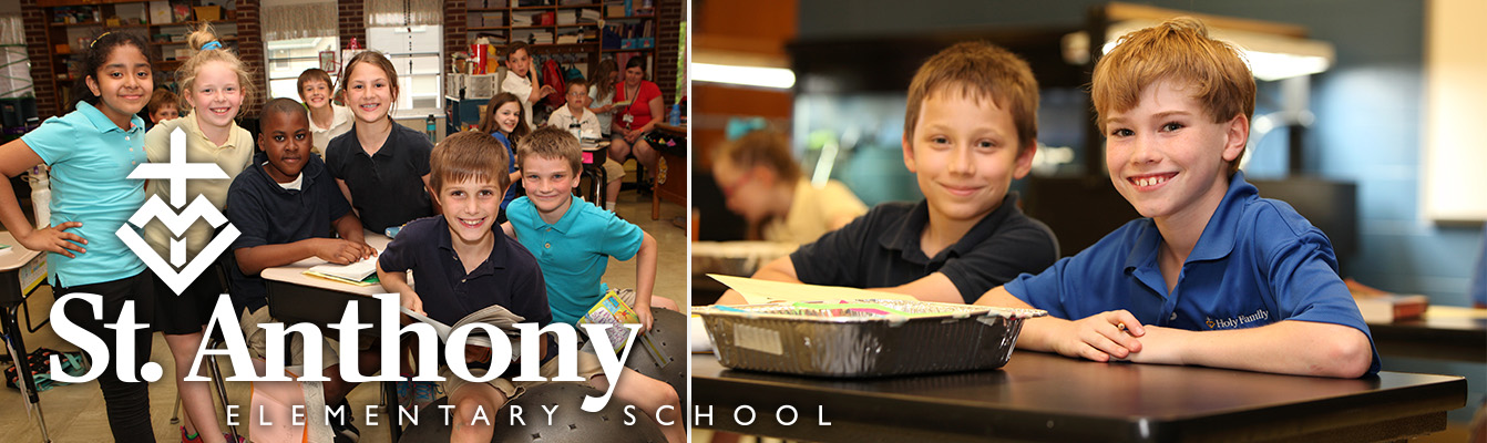 St Anthony's Catholic Elementary Header