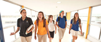 Students in the Skywalk